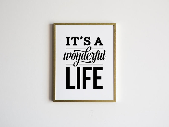 It's A Wonderful Life Christmas Print