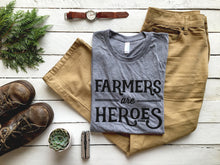 Load image into Gallery viewer, Farmers Are Heroes Adult Tee