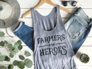 Farmers Are Heroes Adult Tank Top