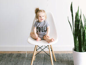 One First Birthday Baby Bodysuit