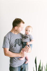 Papa Bear Tee and Baby Bear Bodysuit Matching Set