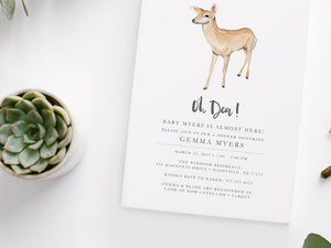 Oh Deer Baby Shower Invitation Printable