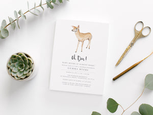 Printable Oh Deer Baby Shower Invitation