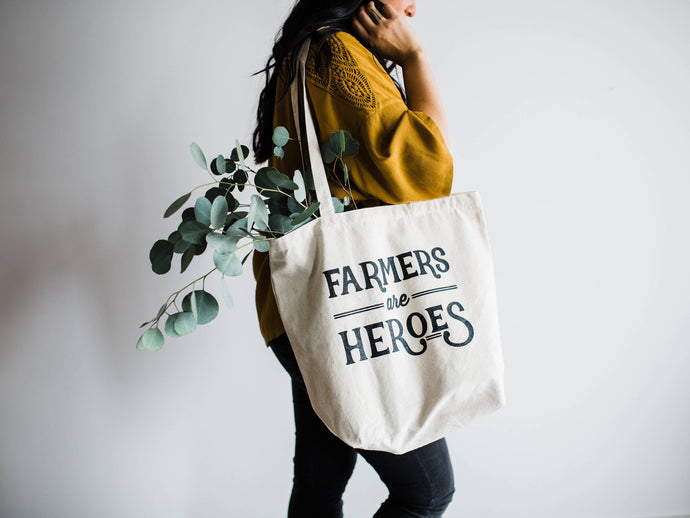 Farmers Are Heroes Canvas Tote Bag