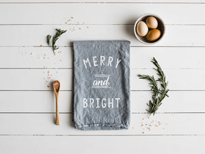 Merry and Bright Tea Towel