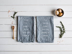 O Holy Night Set of Two Christmas Tea Towels