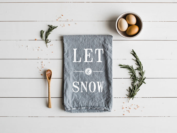 Let It Snow Tea Towel