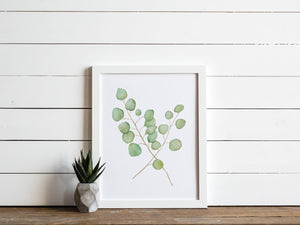 Watercolor Eucalyptus Botanical Print