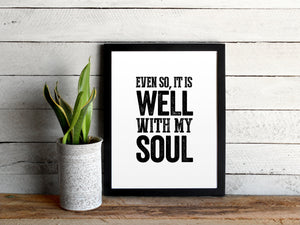 It Is Well With My Soul Hymn Print