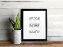 Load image into Gallery viewer, Custom Vows Print in Vintage Typewriter Style