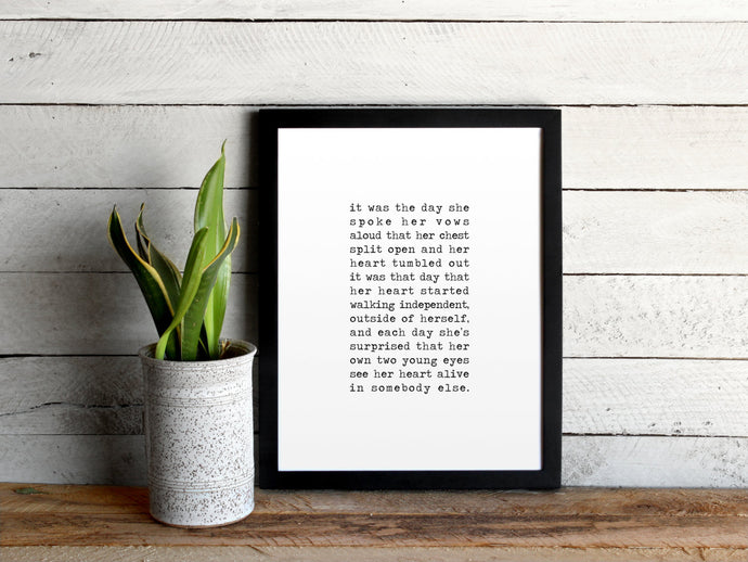 Typewriter Love Poem Print