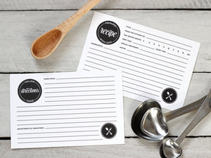 Set of 20 Modern Recipe Cards