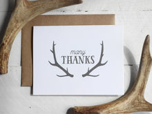 Load image into Gallery viewer, Oh Deer Themed Antler Thank You Card