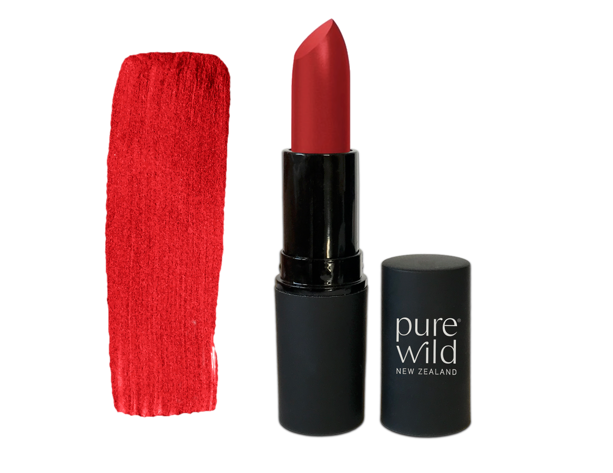 Lava Scarlet Lipstick. Pure Wild®. Made in New Zealand. www.purewild.co.nz