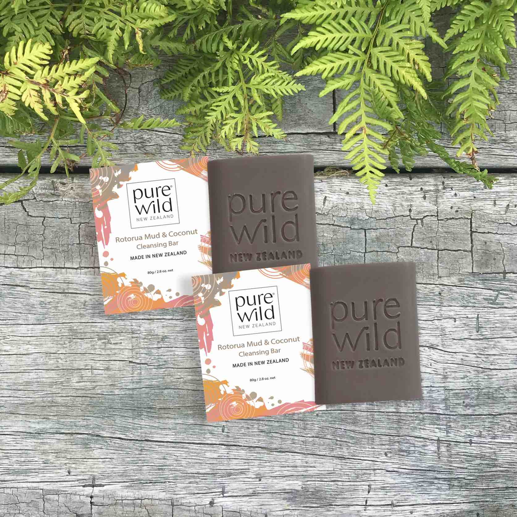 Rotorua Mud and Coconut Soap. Pure Wild®. Made in New Zealand.