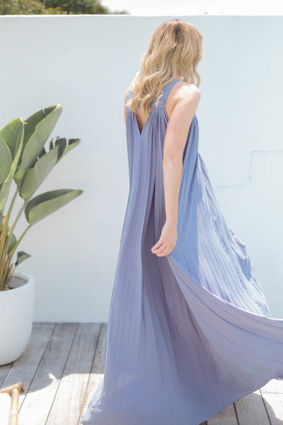 JACQUELINE Pleated Maxi Dress