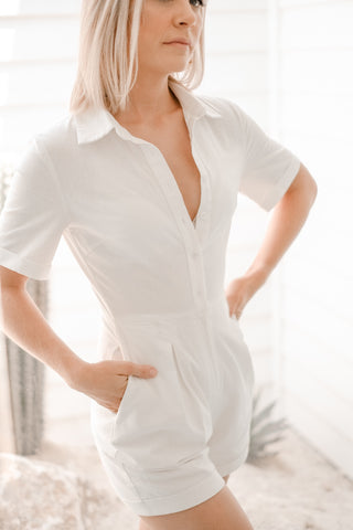 TEGUN White Playsuit