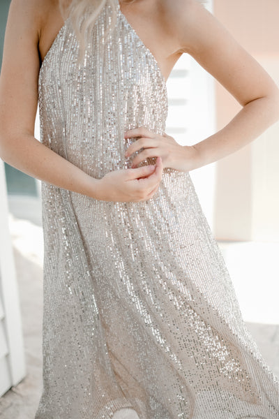 CLASSY LADY Sequin Dress
