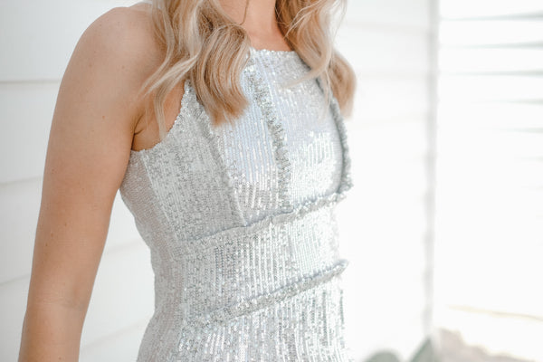 PENNY Sequin Midi Dress