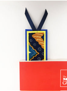 CWO Batik Bookmark (Blue & Yellow)