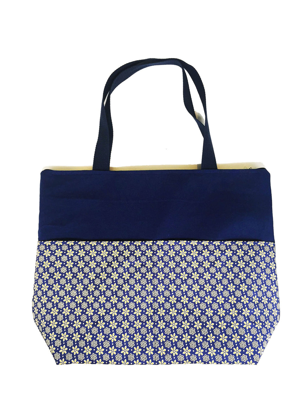 CWO Medium Tote Bag with Zipper (Floral Pattern)