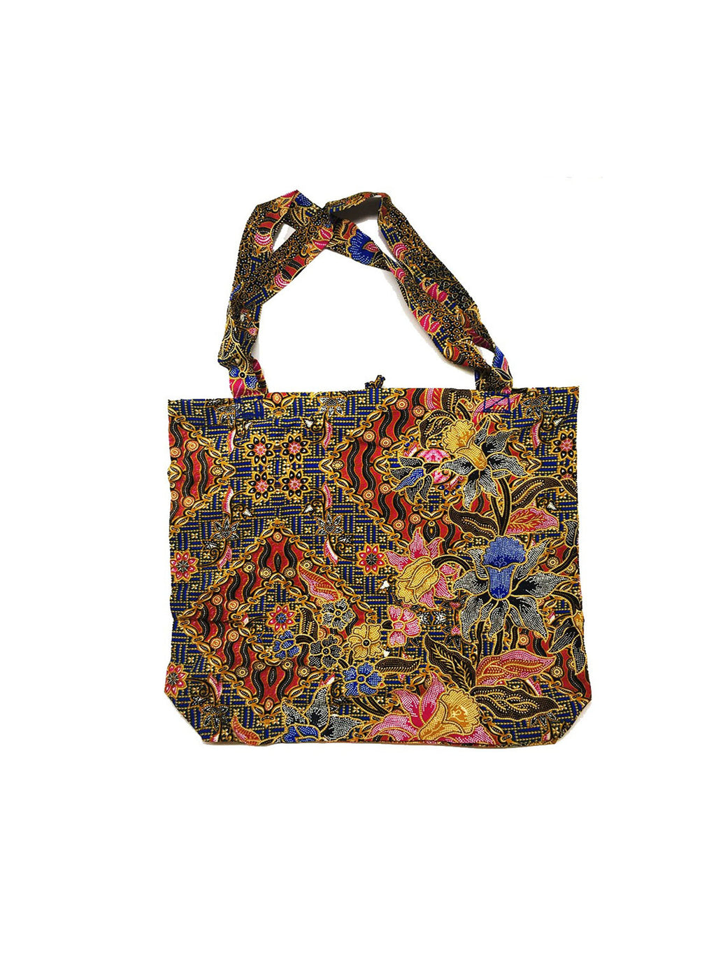 CWO Foldable Batik Shopping Bag (Blue & Pink)