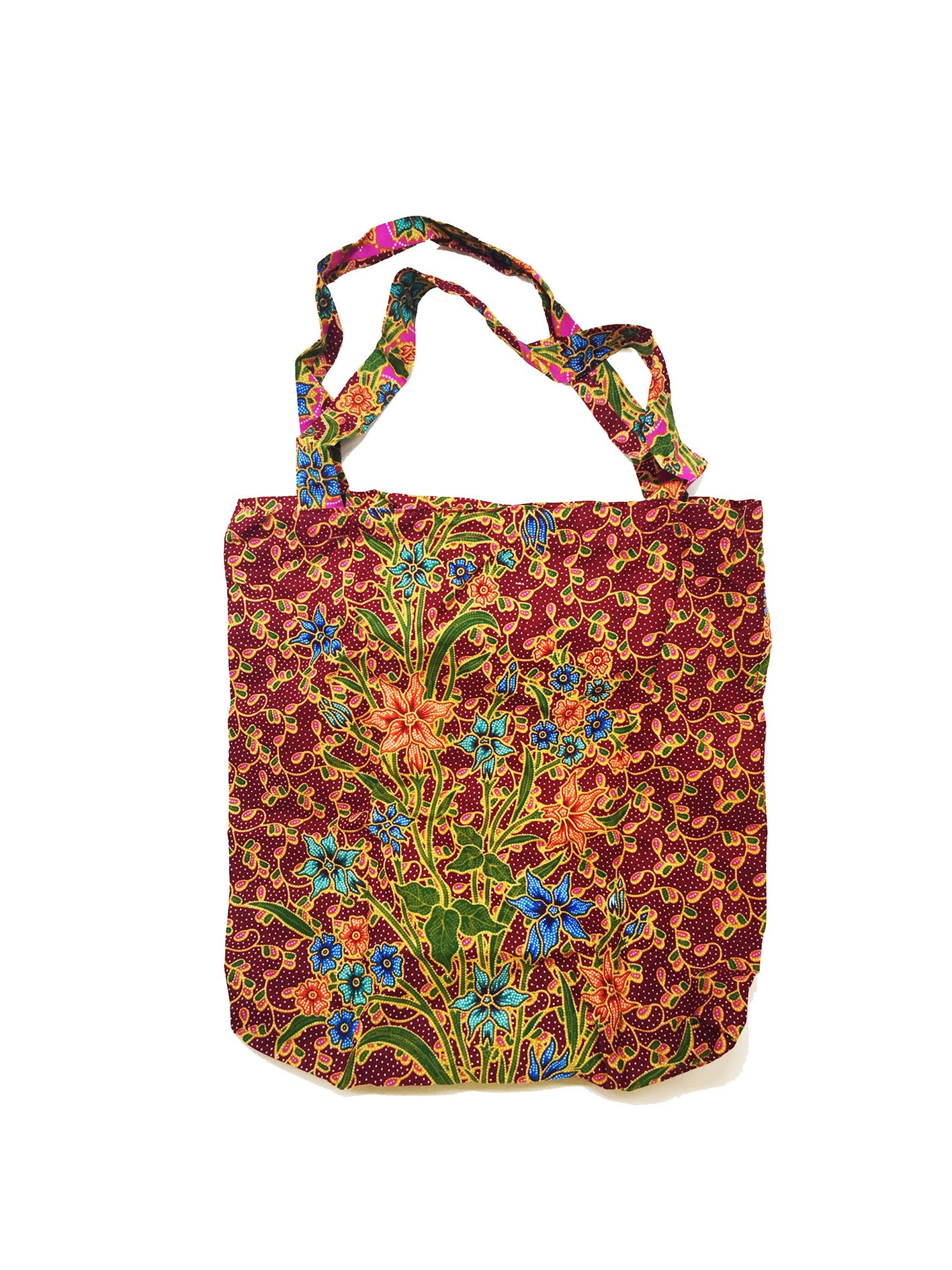 CWO Foldable Batik Shopping Bag (Maroon & Purple)