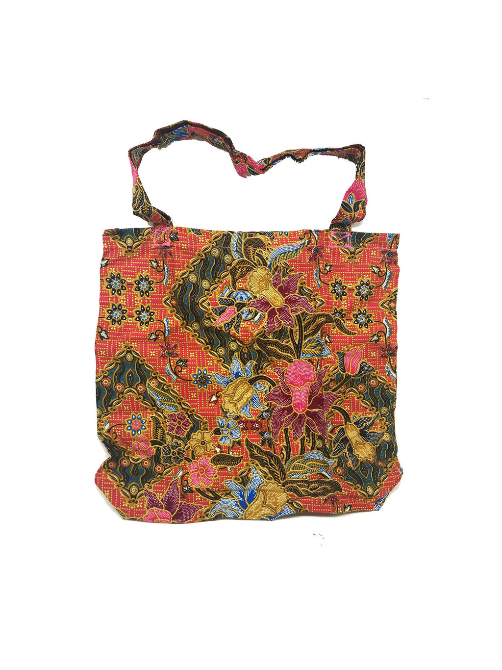 CWO Foldable Batik Shopping Bag (Orange)