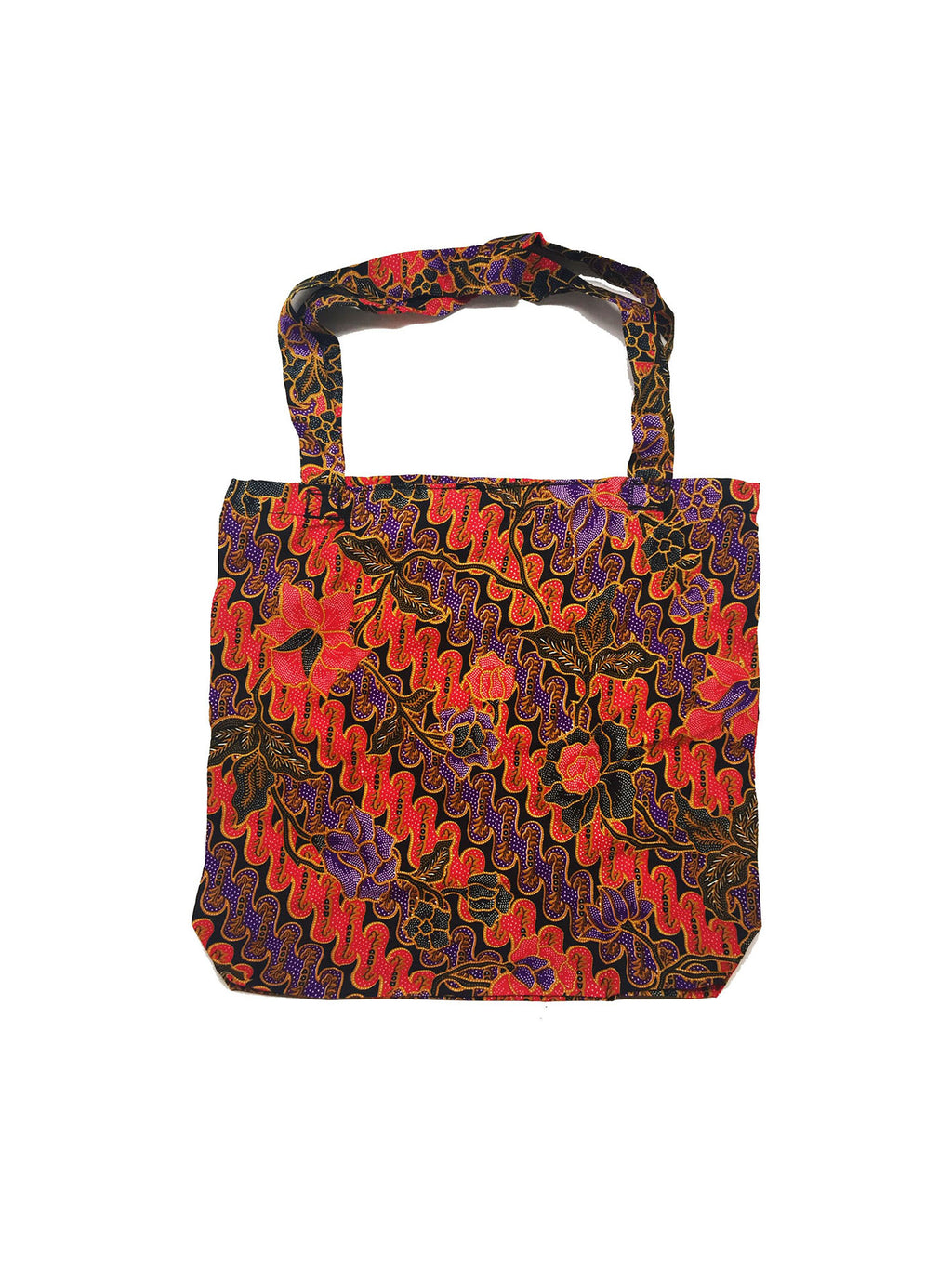 CWO Foldable Batik Shopping Bag (Red & Purple)