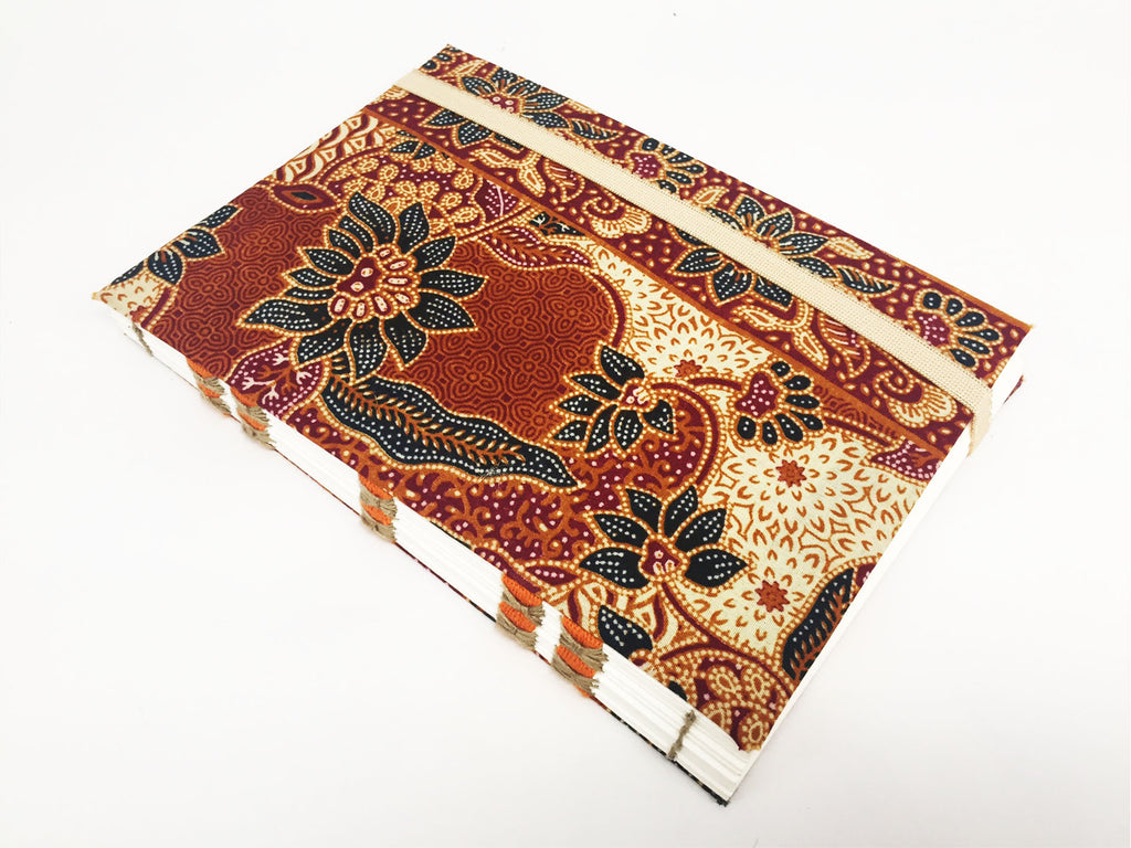 Mon Children's Handmade Fabric Notebook (Brown)