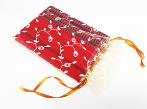 Mon Children's Handmade Fabric Notebook (Red)