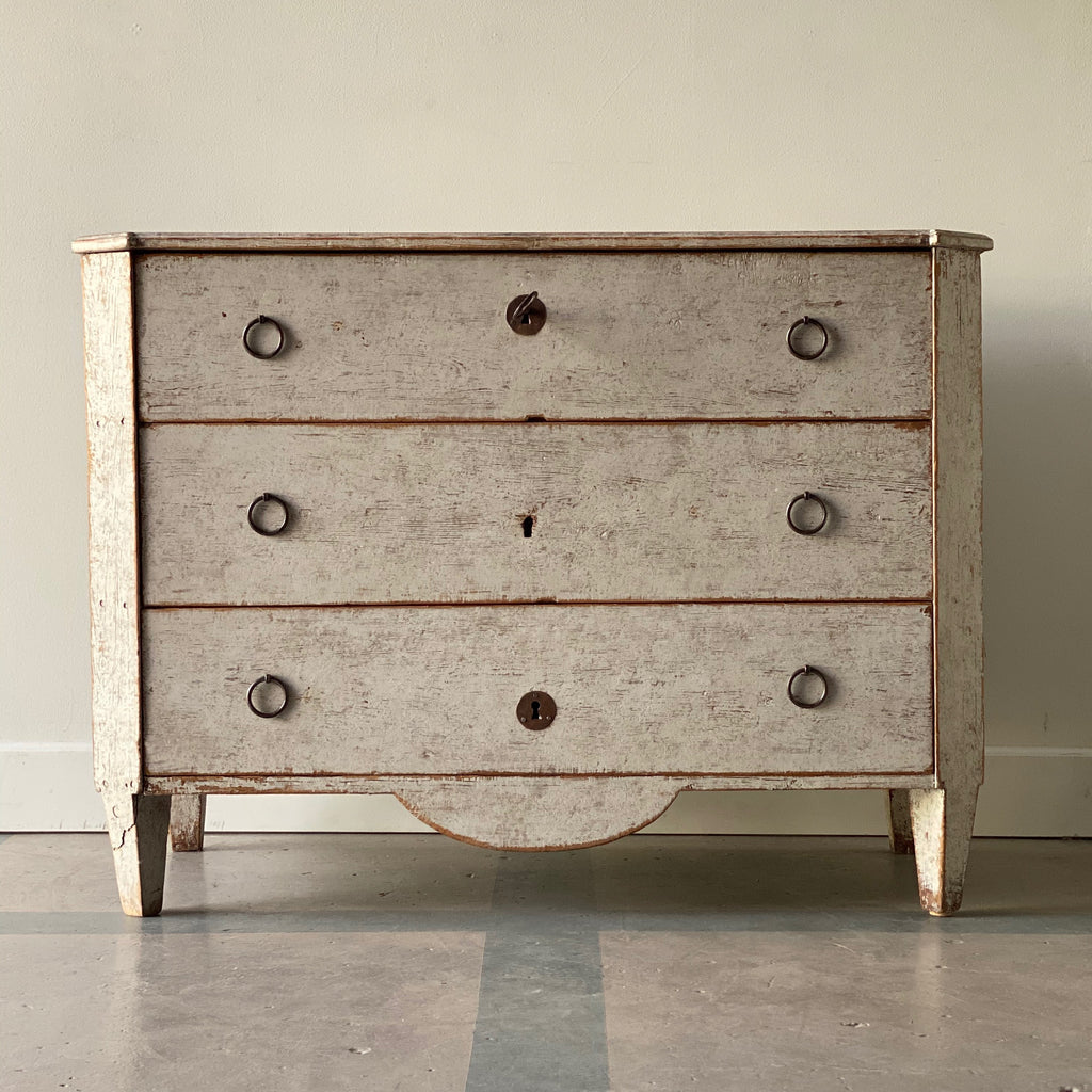 Gustavian Whitewashed Commode Circa 1780