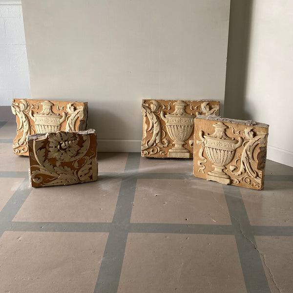 Set of Four Architectural Reliefs