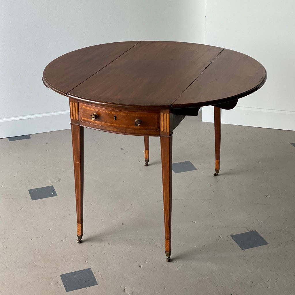19th C. English Mahogany George III Pembroke Table