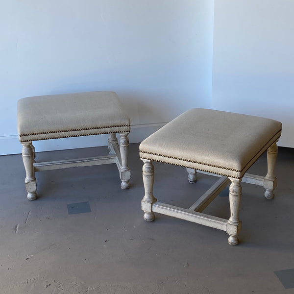 Pair of Swedish Square Benches