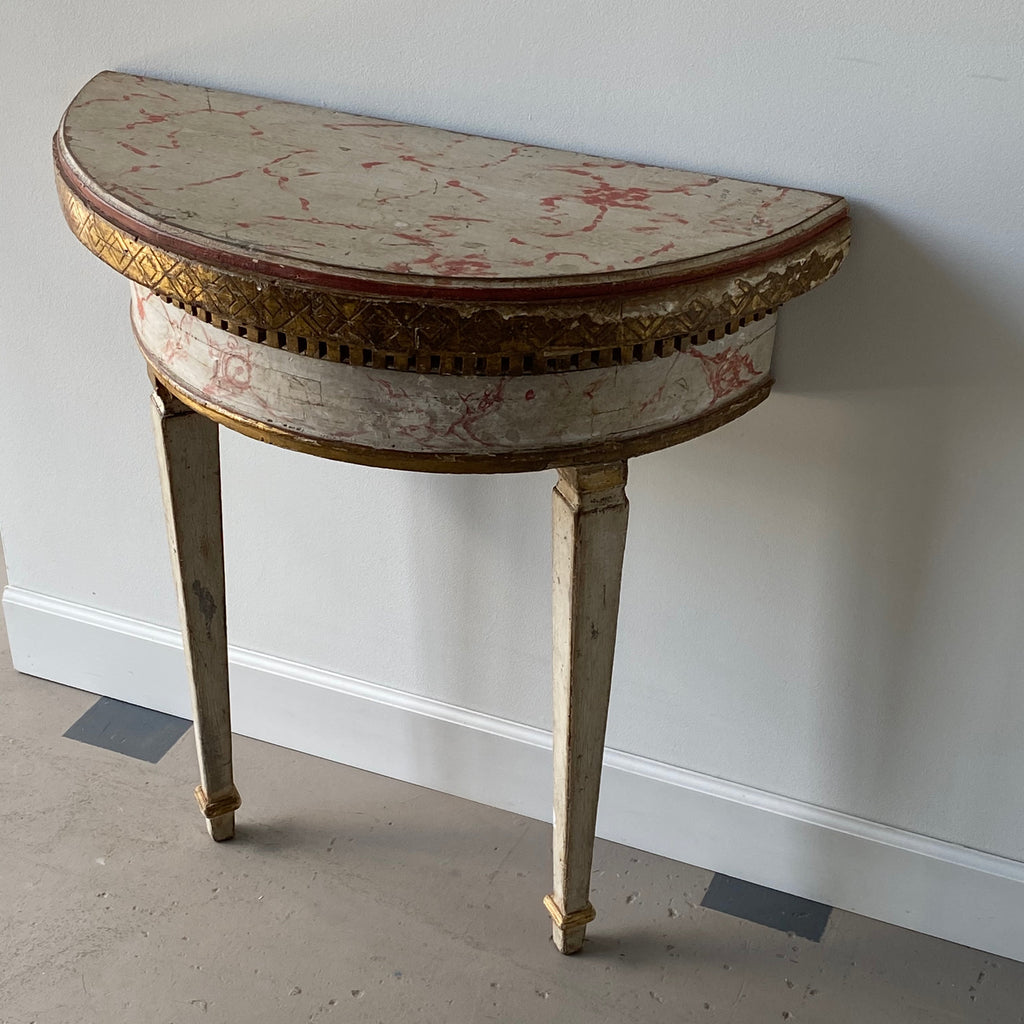Wall Mounted Painted Italian Console Table