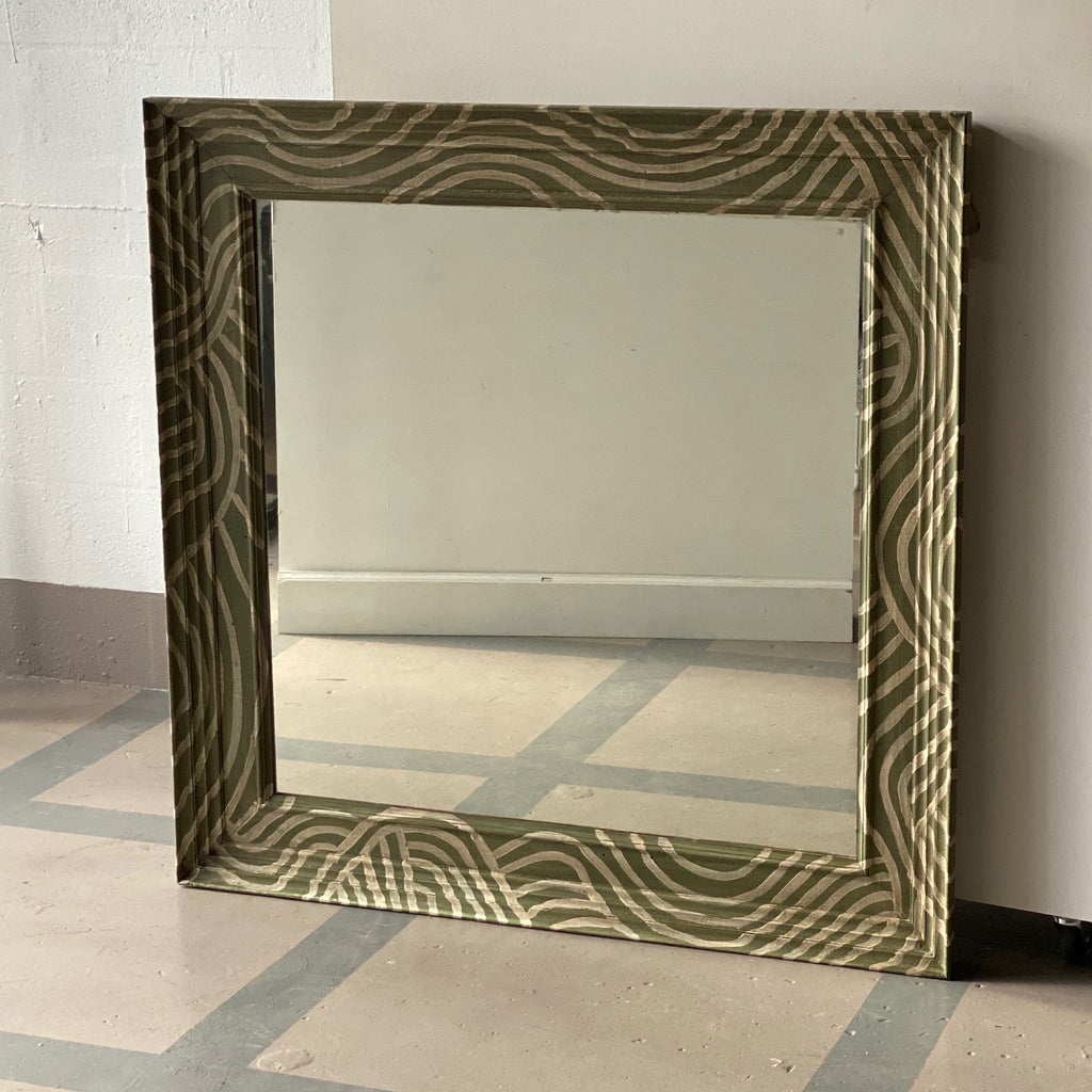 Catharine Warren-Style Painted Barcelona Mirror