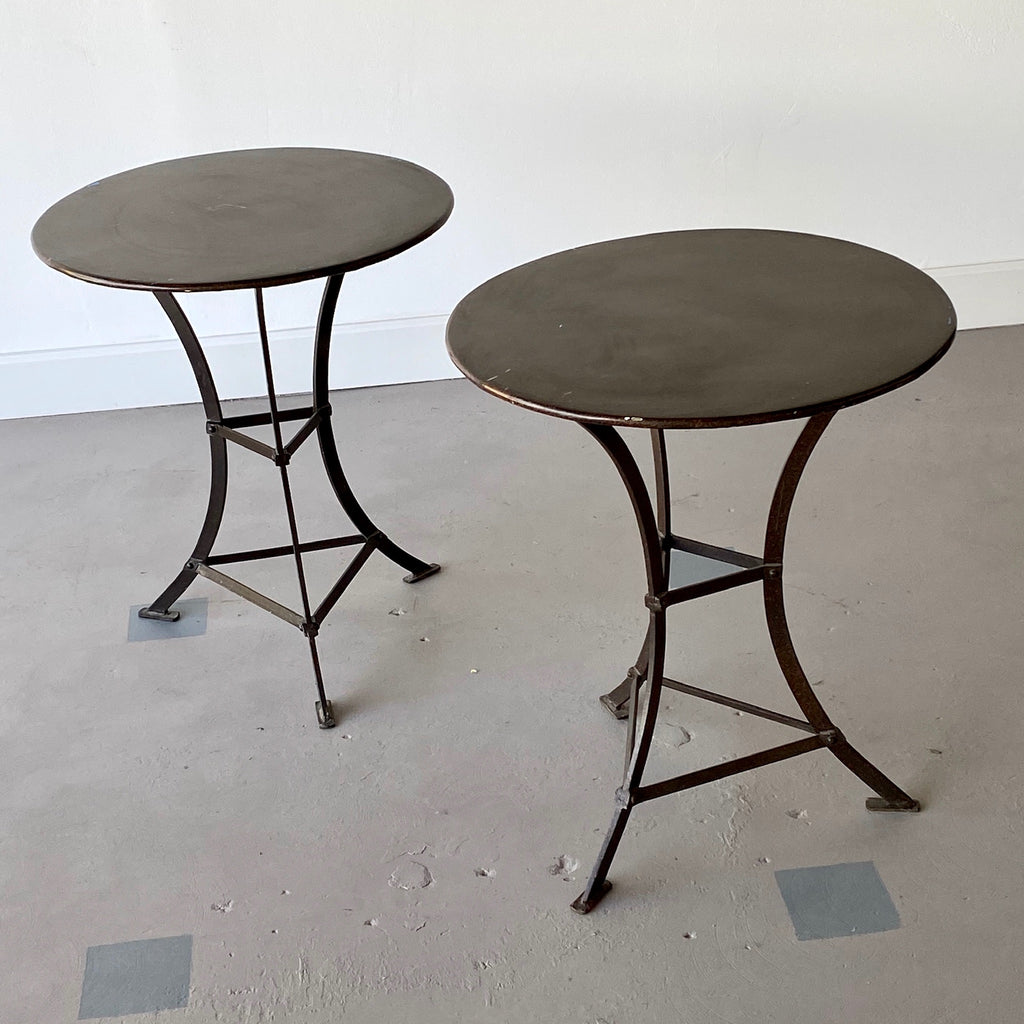 Pair of French Iron Bistro Tables