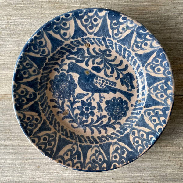 19th C. Spanish Pájaro Plate - Get the Gusto, Pottery - interior design, shop Get the Gusto - Get the Gusto, Amazon Get the Gusto - gusto shop