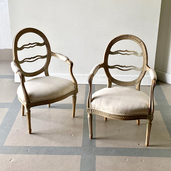 Pair of Lindome Armchairs Circa 1780