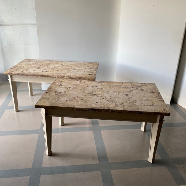 Pair of Italian 40's  Scagliola Top Tables