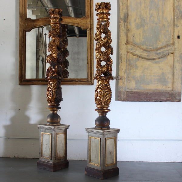 Pair of 18th Century Italian Carved Columns - Get the Gusto, Architectural - interior design, shop Get the Gusto - Get the Gusto, Amazon Get the Gusto - gusto shop