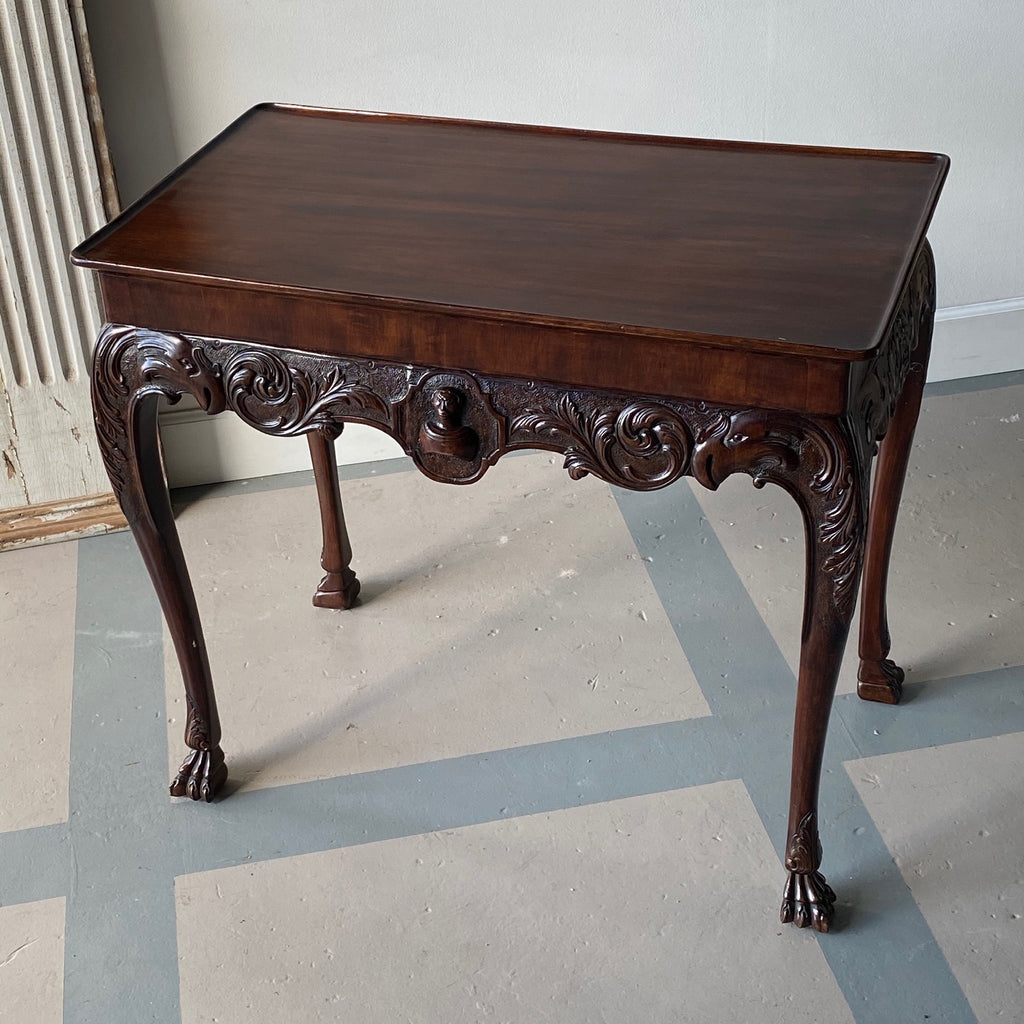 19th C. Irish Mahogany Tea Table