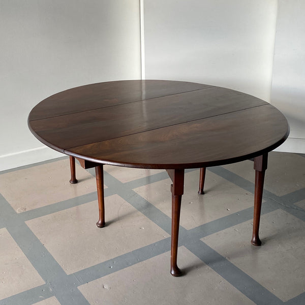 18th C. Georgian Flame Mahogany Table