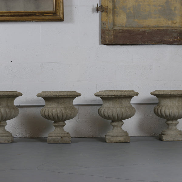 Set of Four Cement Urns - Get the Gusto, Urns - interior design, shop Get the Gusto - Get the Gusto, Amazon Get the Gusto - gusto shop