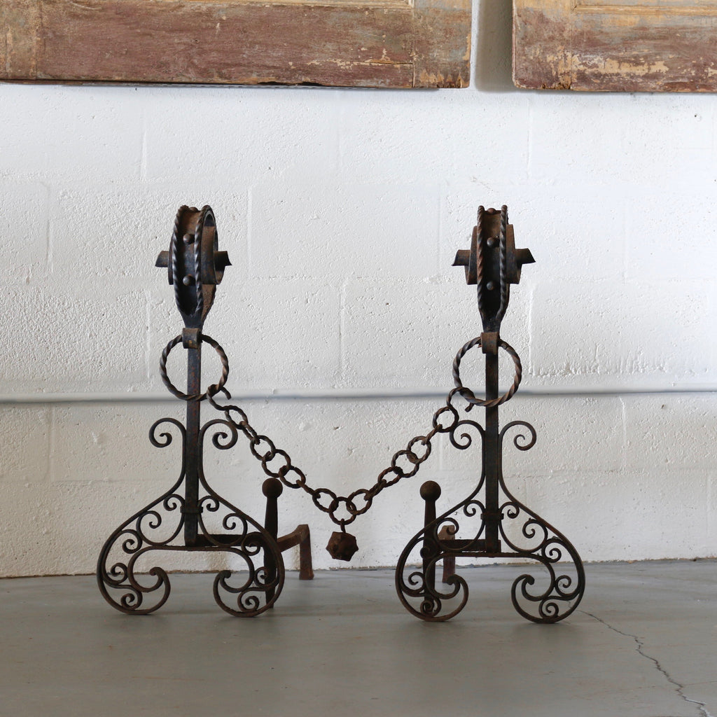Arts and Crafts Gothic Andirons - Get the Gusto, Andirons - interior design, shop Get the Gusto - Get the Gusto, Amazon Get the Gusto - gusto shop