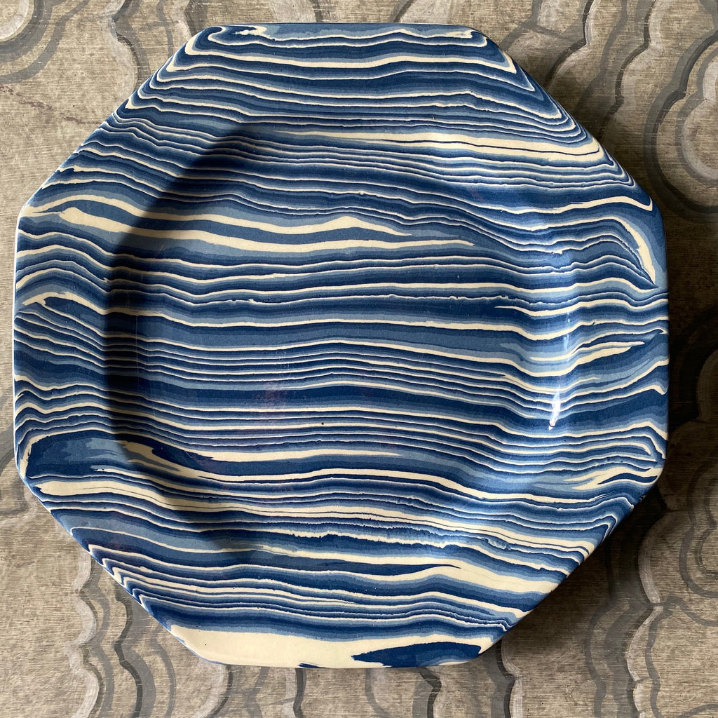 Blue Dinner Luncheon Plate