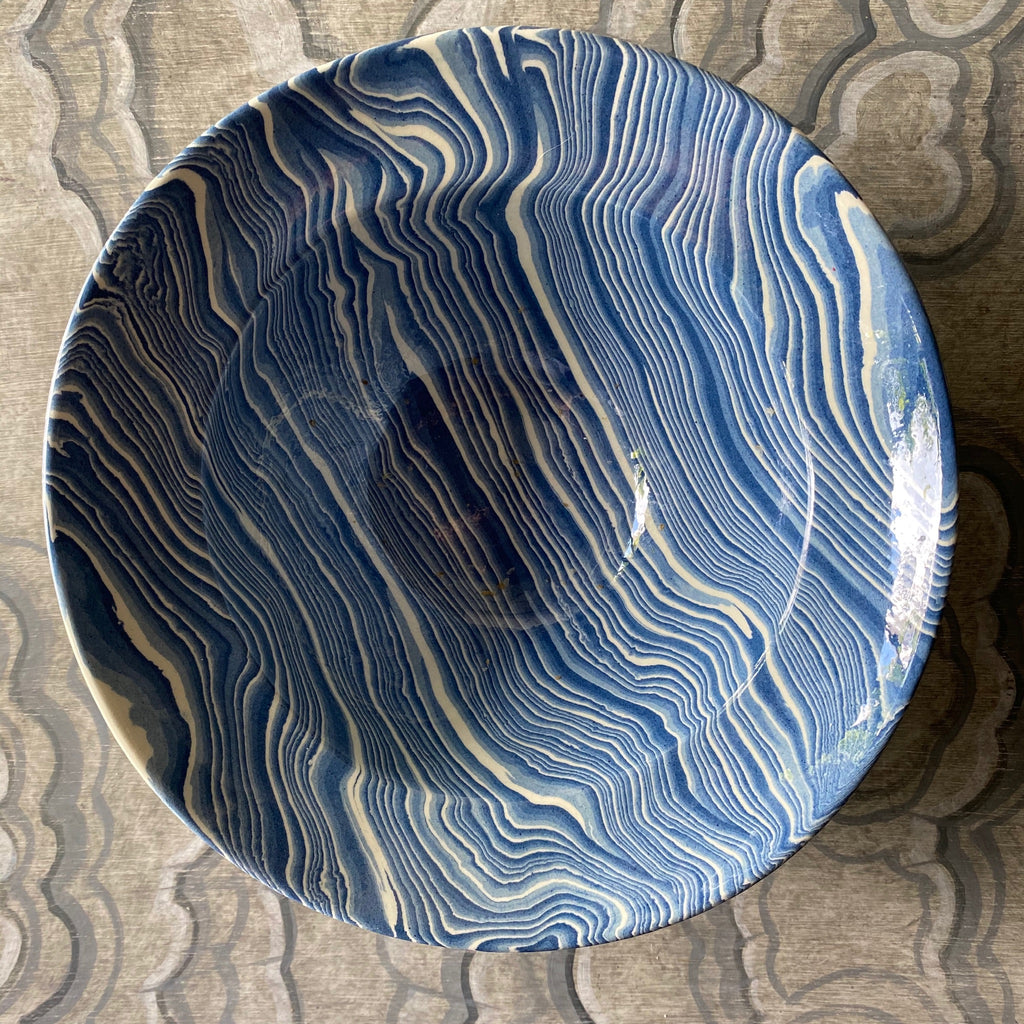 Blue Pasta/Serving Bowl