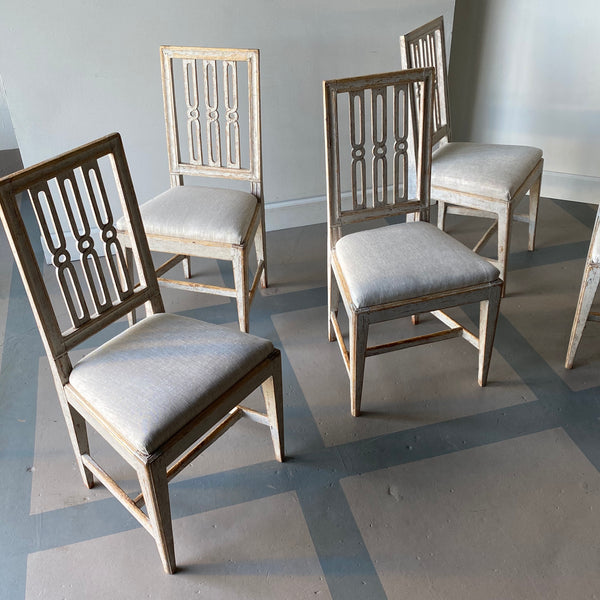 Set of Ten Gustavian Dining Chairs Circa 1800