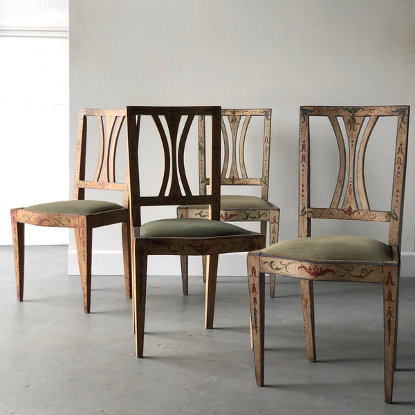 Set of Four 19th C. Painted Italian Adam Chairs - Get the Gusto, Seating - interior design, shop Get the Gusto - Get the Gusto, Amazon Get the Gusto - gusto shop